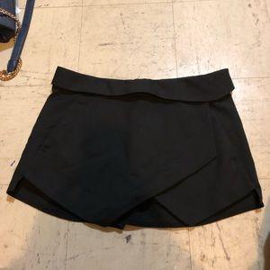 Zara black wrap envelope skirt skort